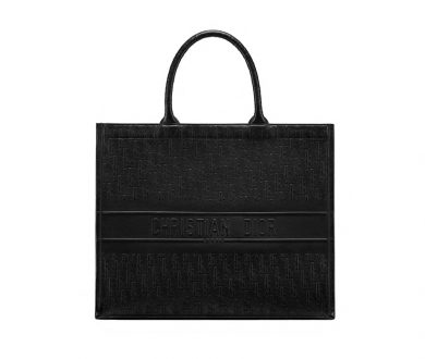 Black Dior Oblique Book Tote Bag