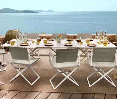 Curate the perfect summer hosting environment with this refined outdoor furnishings brand