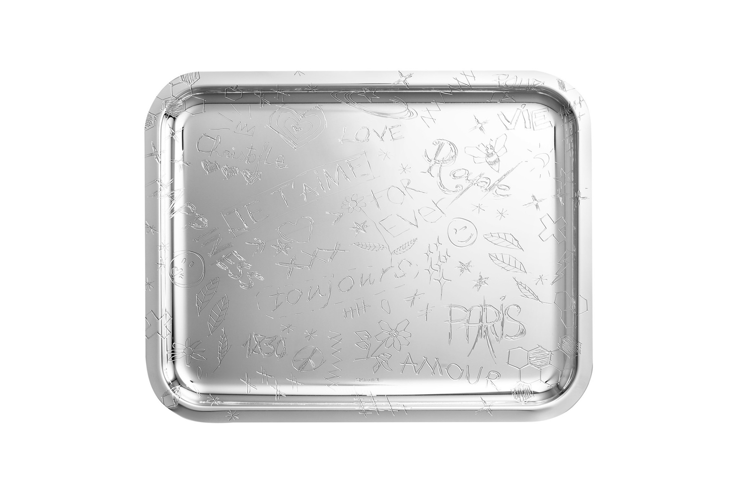 Christofle Silver Plated Graffiti Tray
