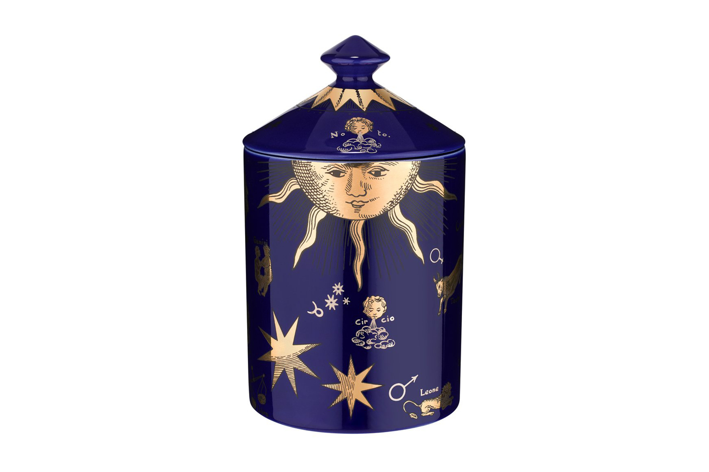 Fornasetti Limited Edition Astronomici Blue Candle