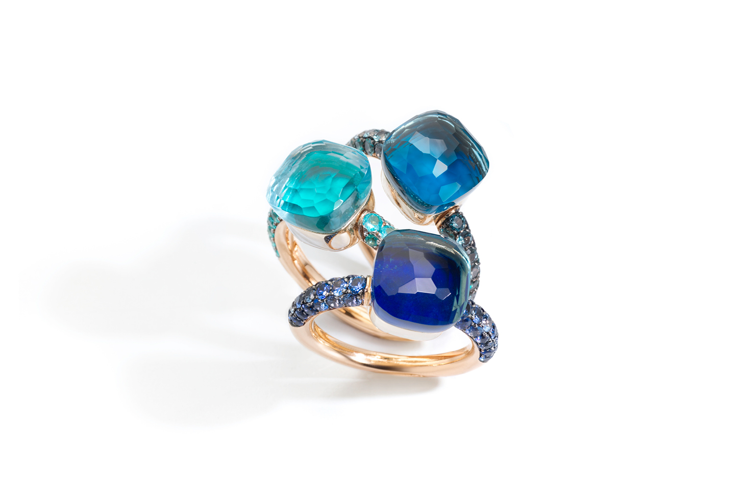 Pomellato Nudo Deep Blue Rings