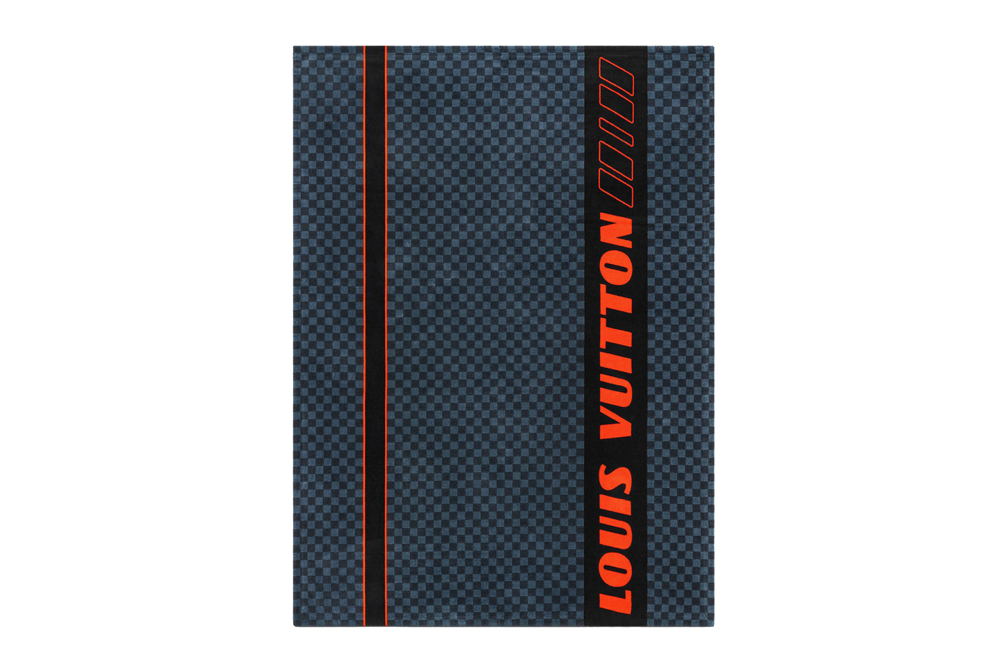 Damier Cobalt Race Beach Towel