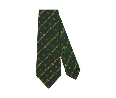 Double G Pineapples and Strawberries Silk Tie