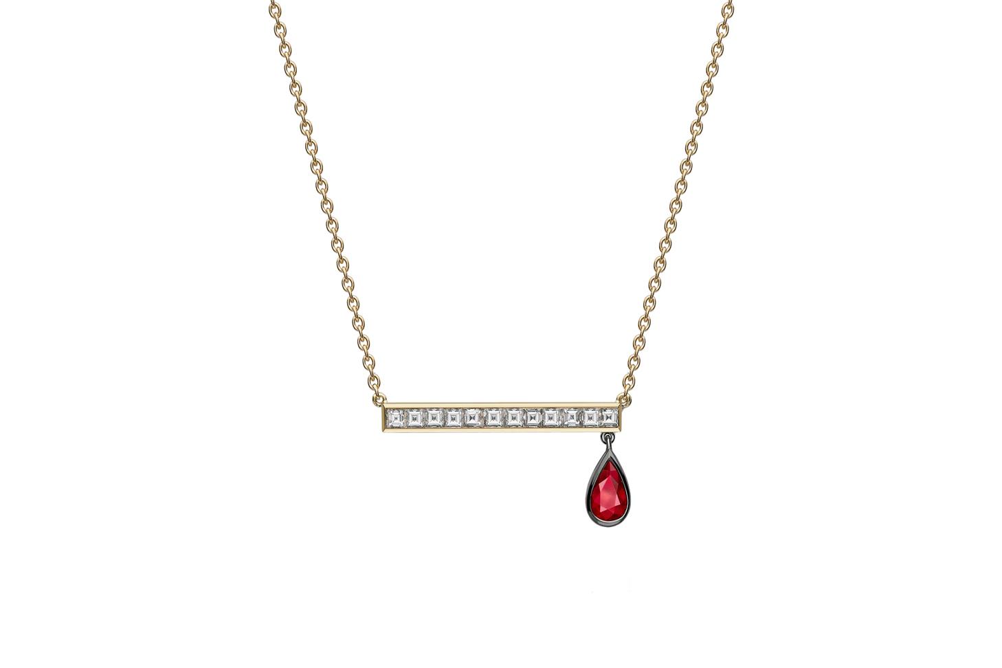 Jessica McCormack Strike Diamond & Ruby Pendant