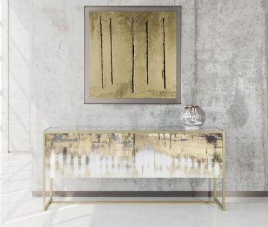 Inject your home with a dose of luxury via this beguiling gilded sideboard