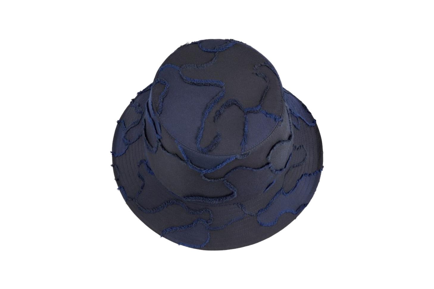Blue Camouflage Cotton Bucket Hat