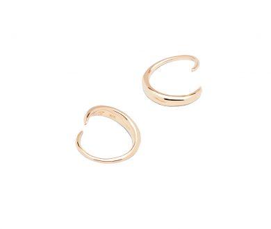 Tom Wood Mini Ear Loop Earrings Gold