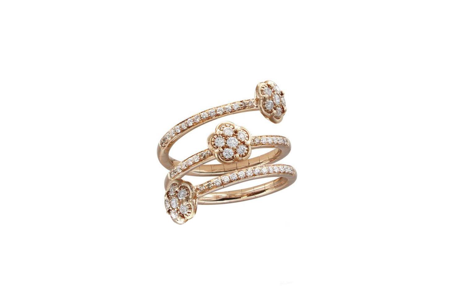 Pasquale Bruni Figlia Dei Fiori Diamond Multi-Row Ring
