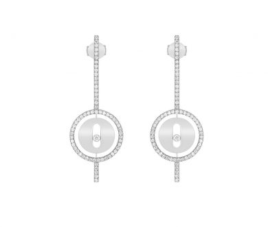 Messika Lucky Move Arrow Earrings White Gold