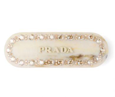 Prada plex hair clip