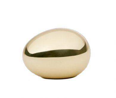 Brass egg paperweight