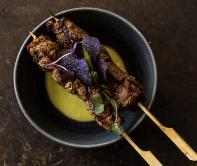 The Wagyu Beef Skewers recipe from Azabu that turns up the heat