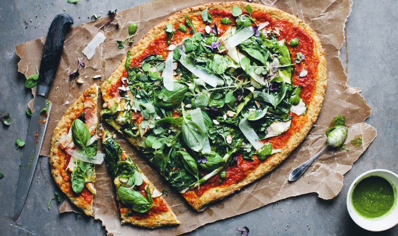 Treat yourself with this low-carb Cauliflower Pizza Base recipe