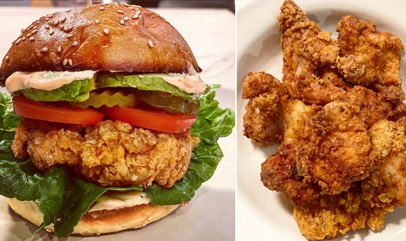 Satisfy your fried chicken burger cravings with this delicious recipe