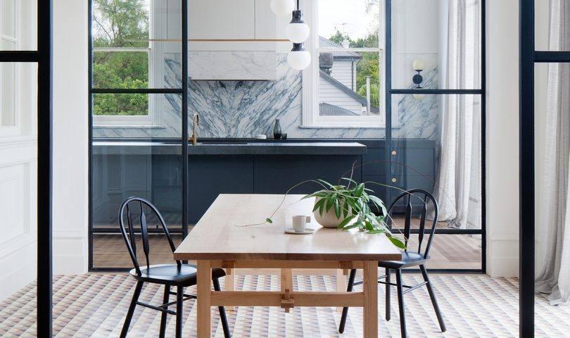 Old world beauty meets elegant modern design in this Victorian home