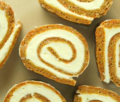 Carrot cake, but not as you know it. Roll up for this tasty treat