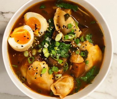 Hearty and healthy, this dumpling soup is the perfect winter recipe