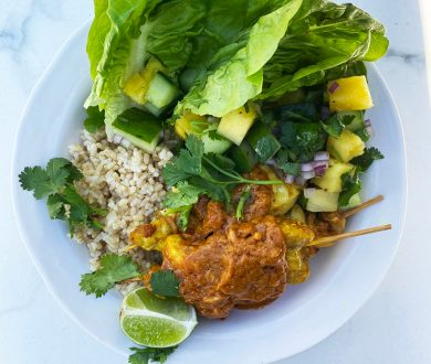 This satay chicken recipe makes for an easy and healthy meal