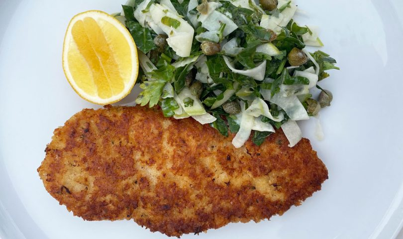 This chicken schnitzel recipe is here to satisfy your comfort food cravings
