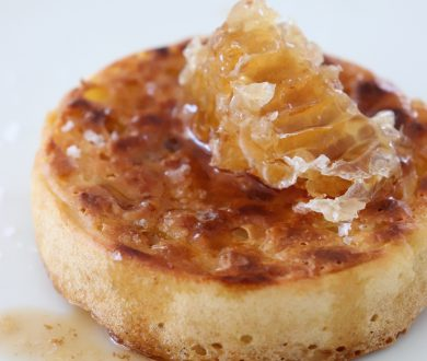 Up your breakfast game with homemade crumpets, browned butter and honey