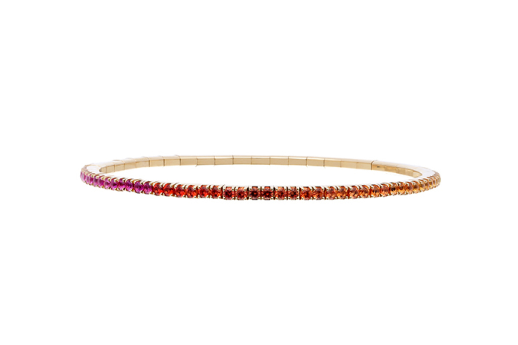 Rainbow Sapphire Stretch Bracelet