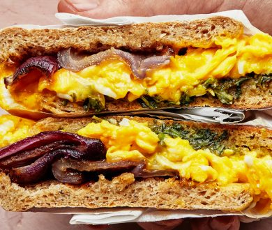 This breakfast sandwich is sure to get you out of bed and into the kitchen this weekend
