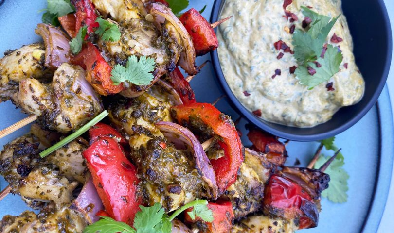 Try these herby chermoula chicken skewers for a deliciously healthy dinner