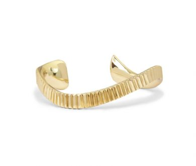 Form Asymmetric Cuff in Gold