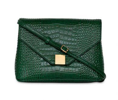 Rebecca Bag in Emerald Croc