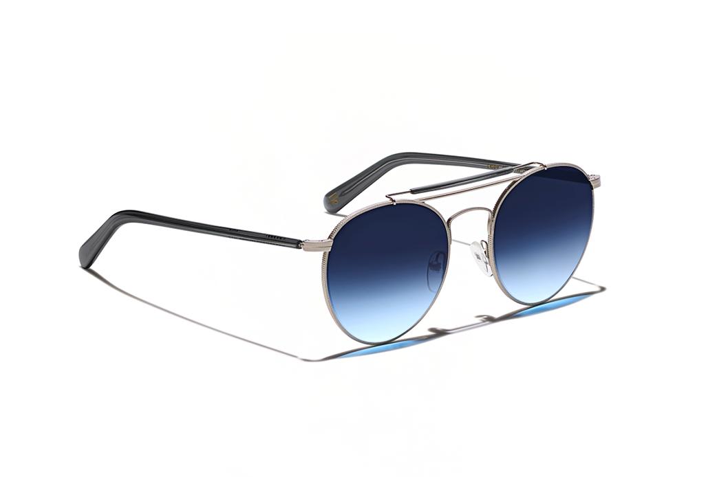 Moscot Lazer Sun Matte Silver Dark Grey Sunglasses