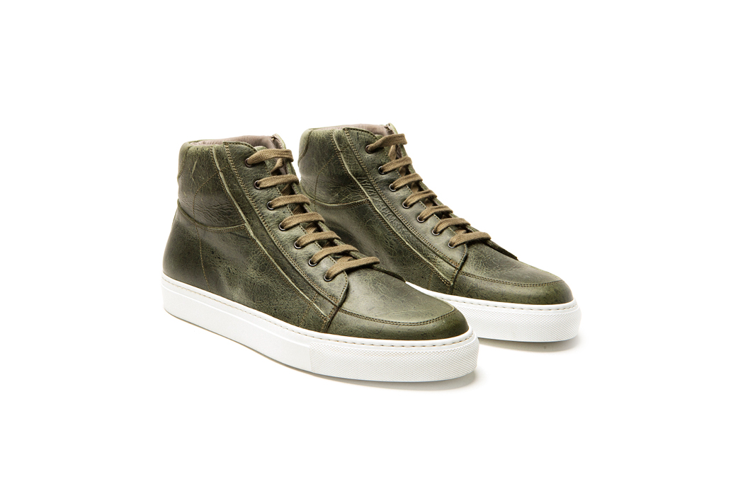 Mito High Top Sneaker in Forest