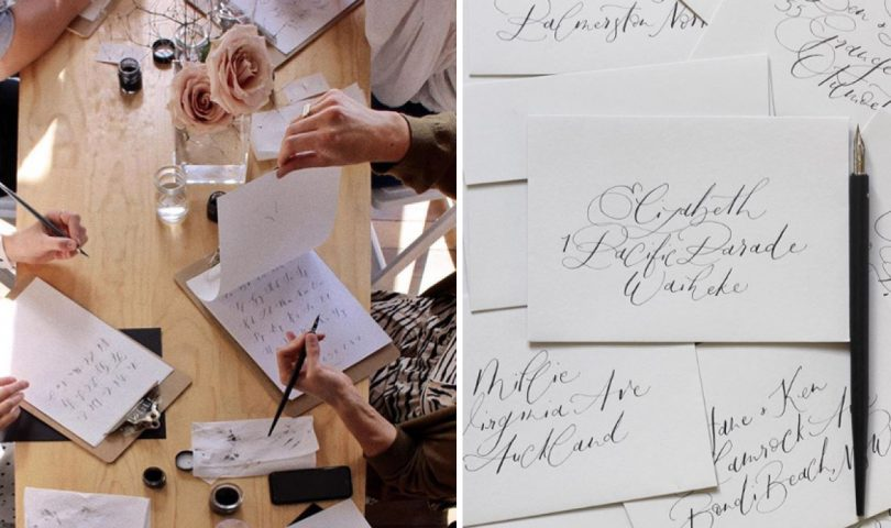 Make your Christmas cards extra special this year with this calligraphy workshop