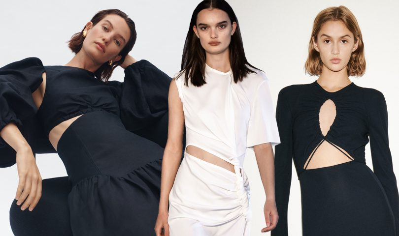 Peep show: Show a touch of skin with cut-out clothing, this season's coolest trend
