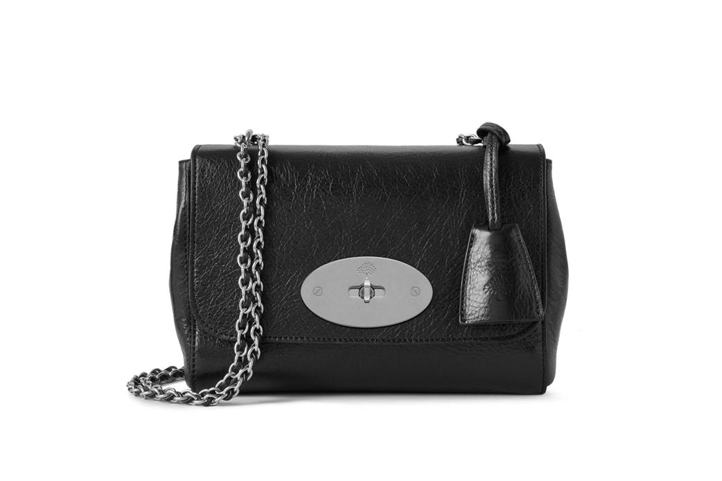 Mulberry Lily Black High Shine Calf Leather bag