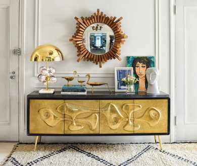Add a stylish yet practical touch to any space with these sleek consoles
