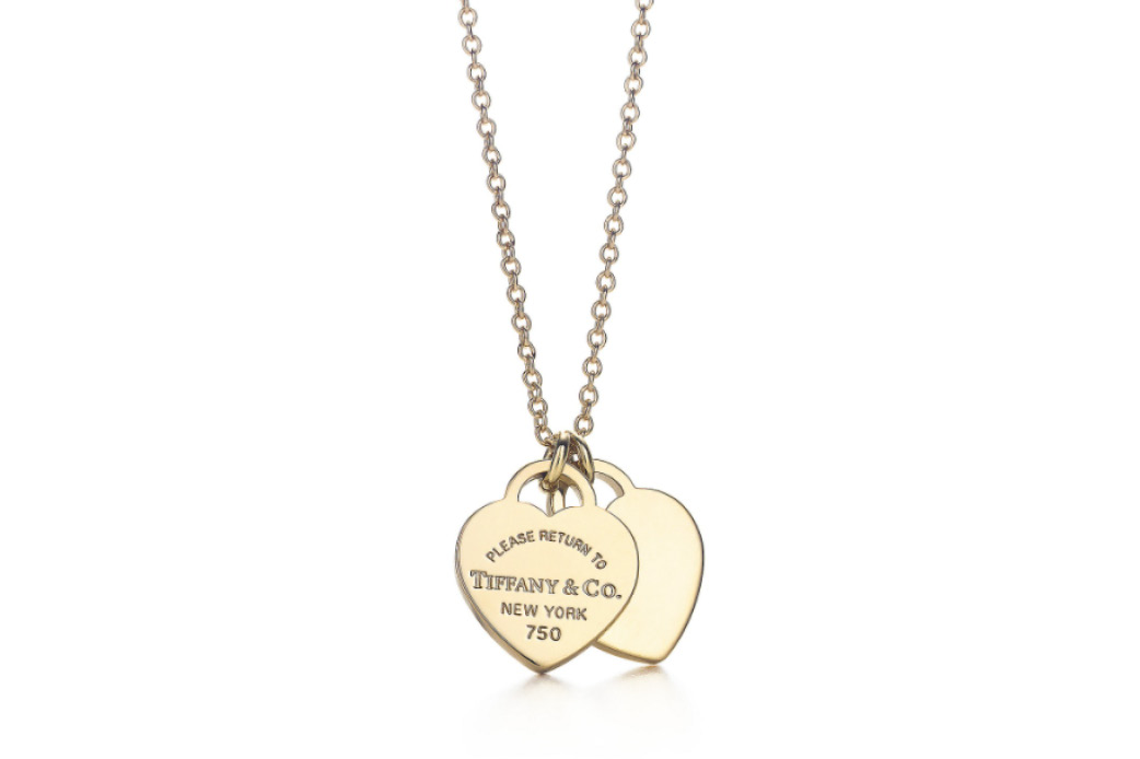 Tiffany & Co. double heart tag pendant