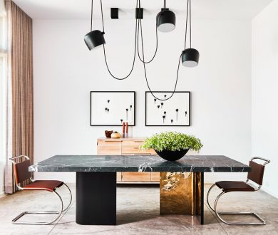 Give your dining room a refined edge with these sleek, steel-framed chairs