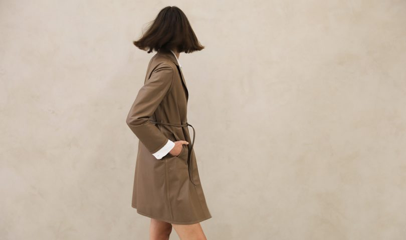 This leather trench coat is the chic update your autumn wardrobe needs