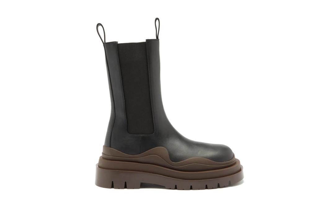 Bottega Veneta waved-sole leather boots