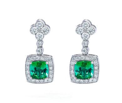 Sutcliffe Tourmaline and Diamond Earrings