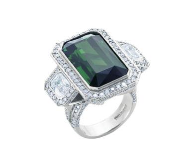 Sutcliffe Emerald Cut Tourmaline Ring