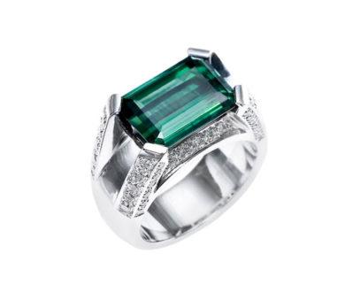 Sutcliffe Green Tourmaline Ring