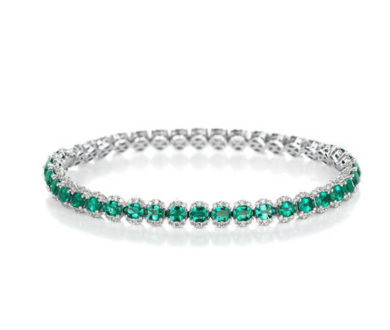 Partridge Emerald Half Halo Bracelet