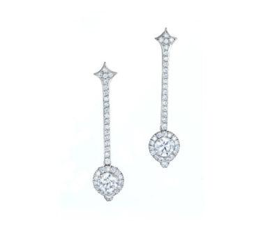 Spotlight diamond earrings