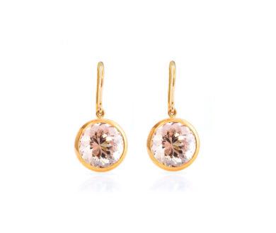 Peach morganite earrings