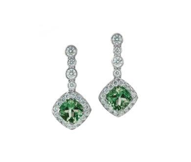 Apple tourmaline earrings