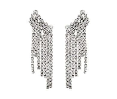 Isabel Marant fringed crystal earrings