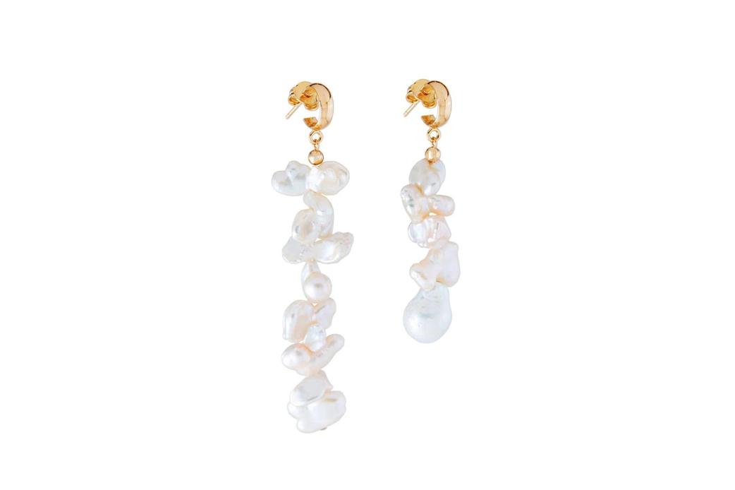 Martha Calvo Keshi pearl earrings