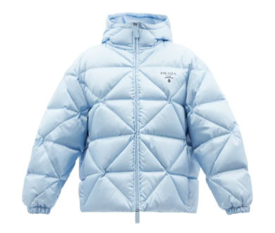 Prada Hooded Quilted Re-Nylon Jacket