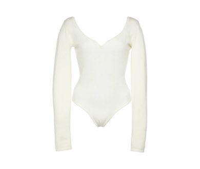 Cashmere blend heart bodysuit